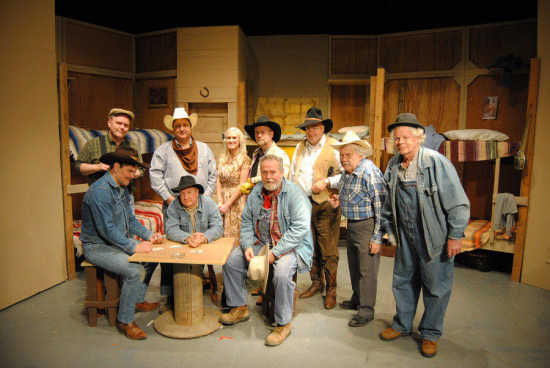 The cast of the ccpa production quot of mice and men quot standing left to