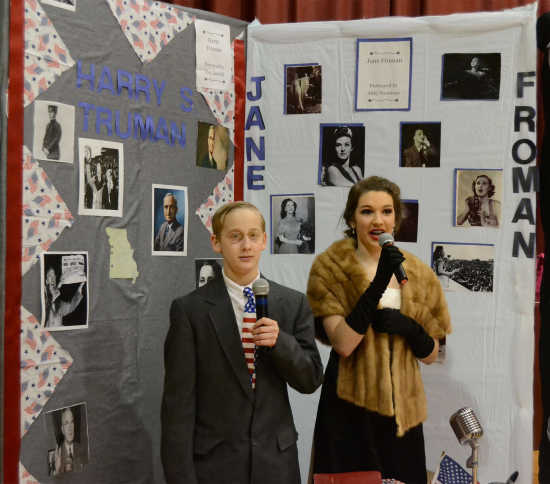 Clay Landoll and Abigail Norcross portray Harry S. Truman and Jane