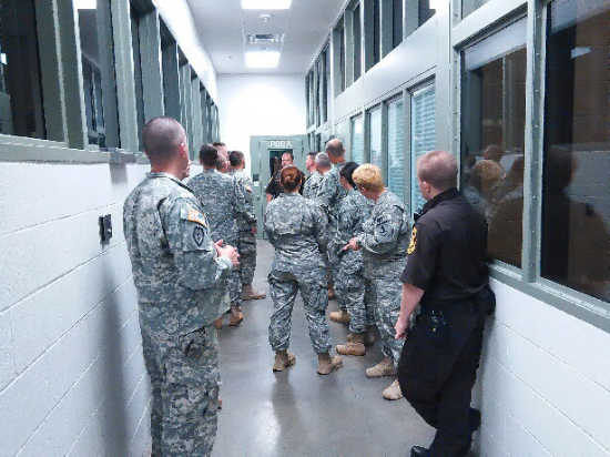 Local News: Military Police train at the Vernon County Jail